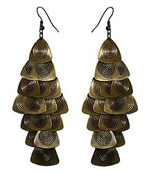 Metal Jhalar Earrings