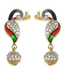Buy Metal Peacock Earrings