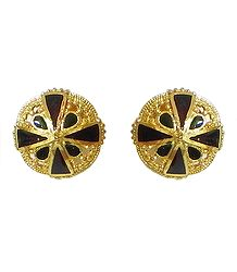 Shop Online Gold Plated Round Metal Earrings