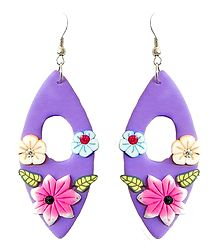 Mauve Floral Earrings