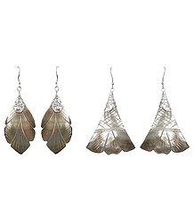 Leaf and Flower Shell Earrings