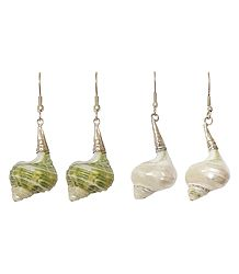 2 Pairs of Shell Earrings