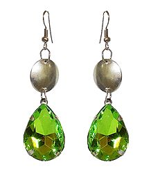 Green Stone Studded Earrings