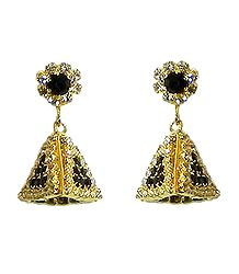Black and White Stone Studded Designer Earring