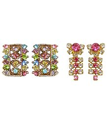 Buy Set of 2 Stone Studded Earrings