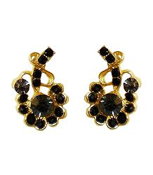 Black Stone Studded Earrings