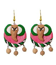 Terracotta Elephant Earrings