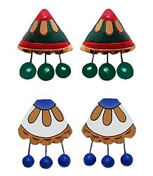 Buy Terracotta Colorful Push Back Earrings