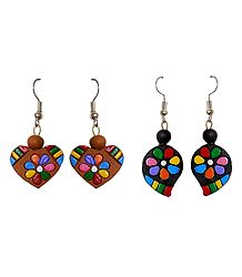 2 Pairs of Terracotta Earrings