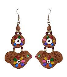 Buy Bird Terracotta Earrings