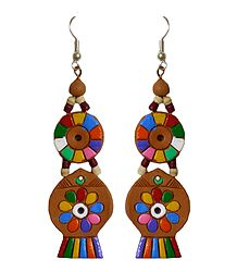 Terracotta Dangle Earrings