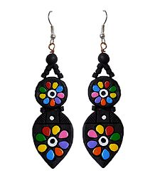 Buy Hand Painted Terracotta Earrings