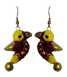 Terracotta Bird Earrings
