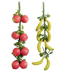 Apples and Bananas - Thermocol Craft Wall Hanging