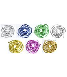 Set of Seven Decorative Multicolor Beaded Streamer