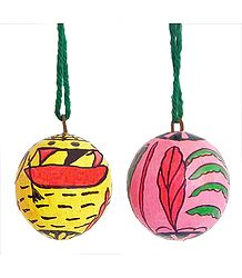 2 Hanging Betel Nut with Folk Painting