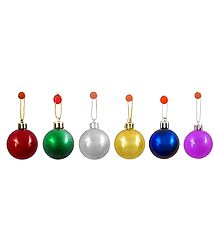 6 Plastic Multicolor Balls for Christmas Decoration