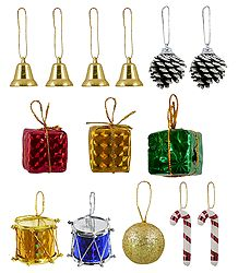 Colorful Assorted Plastic Christmas Tree Hangings