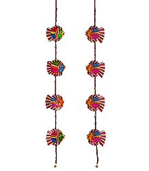 Set of 2 Hanging Perforated Leather Craft