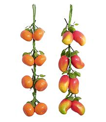 Mangoes and Oranges - Thermocol Craft Wall Hanging