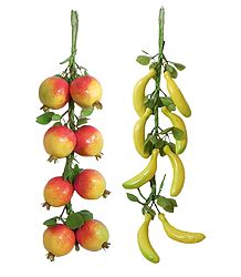 Pomegranates and Bananas - Thermocol Craft Wall Hanging