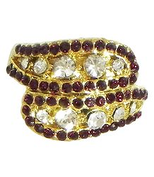 Faux Garnet and Zirconia Ring
