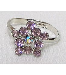 Light Mauve Stone Setting Ring