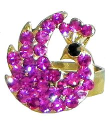 Faux Ruby Peacock Ring