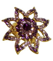 Faux Amethyst Adjustable Ring