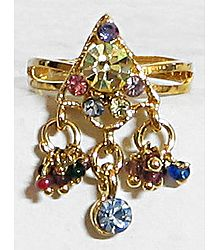 Multicolor Stone Studded Finger Ring