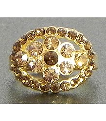 Faux Citrine Adjustable Ring