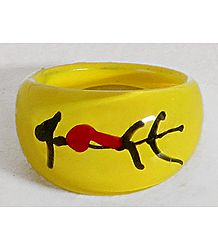 Yellow Acrylic Ring