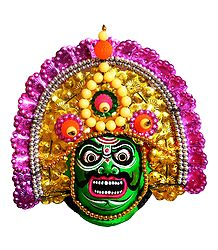 Bhima Chhau Dance Face - Unframed Photo Print on Paper