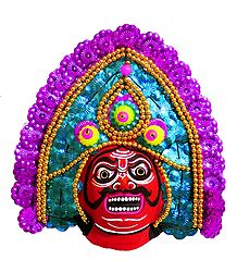 Chhau Dance Face - Unframed Photo Print on Paper