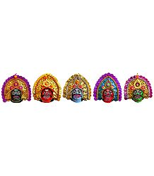 Chhau Dance Faces - Unframed Photo Print on Paper