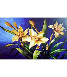 Bunch of Yellow Daffodils - Unframed  Poster