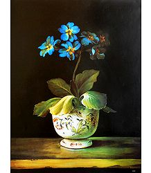 Shop Online Blue Flowers - Unframed  Poster