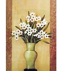 Bunch of White Flowers in a Vase