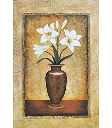 White Lily in a Vase - Unframed  Poster