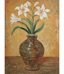 White Lily in a Vase