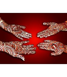 Mehendi Art Picture - Unframed Photo Print on Paper