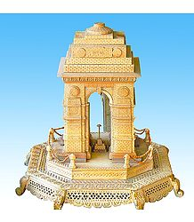 India Gate made of Wood - Unframed Photo Print on Paper