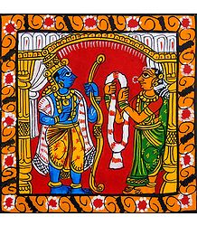 Wedding of Rama and Sita - Cheriyal Painting
