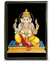 Lord Ganesha - Nirmal Paintings on Wood