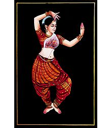 Odissi Dancer - Nirmal Painting on Wood