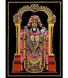 Lord Venkateshwara - Nirmal Paintings on Wood