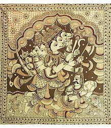 Panchamukhi Varaha Avatara of Vishnu Rescues Mother Earth from the Clutches Hiranyaksha