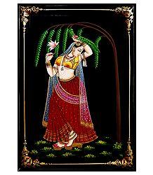 Ragini - Nirmal Painting on Wood