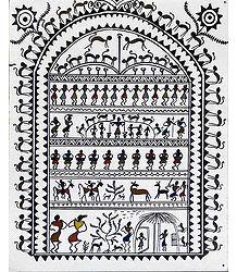 Tribal Life - Warli Painting
