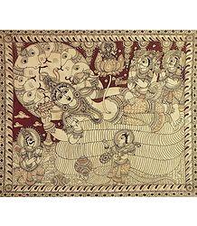 Brahma Emerges from the Navel of Vishnu